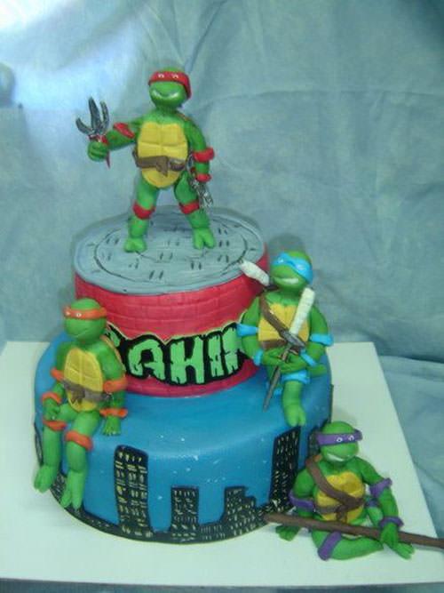 Foto della torta delle Tartarughe Ninja in PDZ n.23