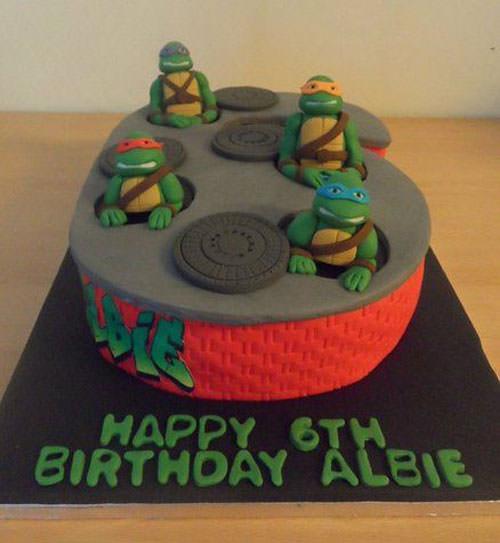 Foto della torta delle Tartarughe Ninja in PDZ n.24