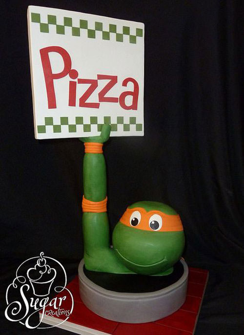 Foto della torta delle Tartarughe Ninja in PDZ n.25