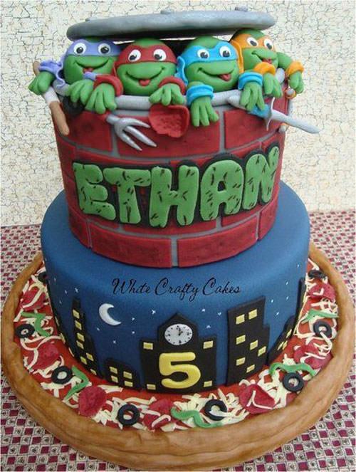 Foto della torta delle Tartarughe Ninja in PDZ n.26