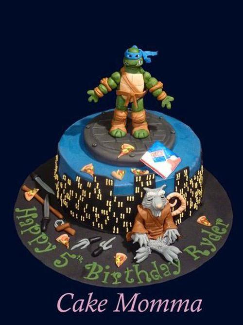 Foto della torta delle Tartarughe Ninja in PDZ n.28