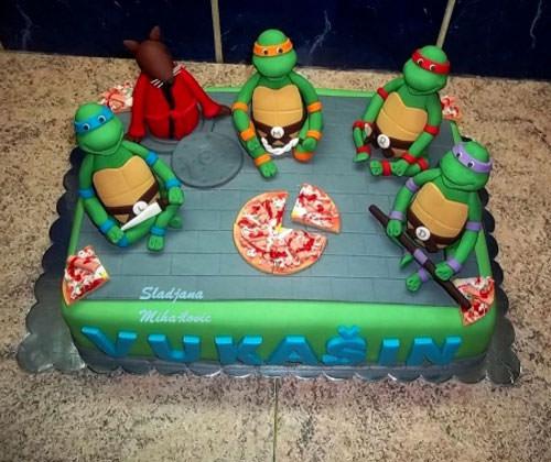 Foto della torta delle Tartarughe Ninja in PDZ n.30