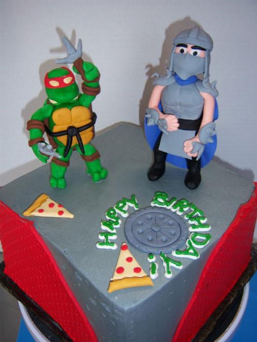 Foto della torta delle Tartarughe Ninja in PDZ n.33