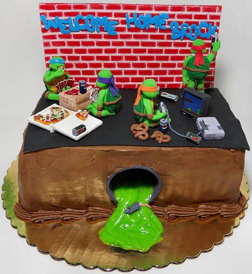 Foto della torta delle Tartarughe Ninja in PDZ n.35