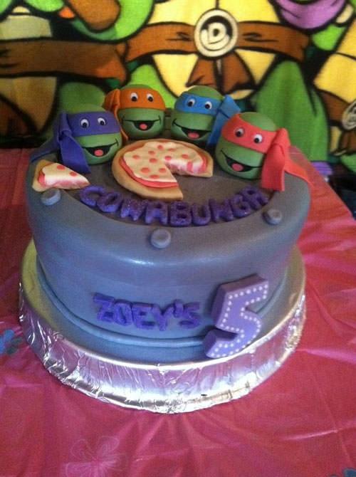 Foto della torta delle Tartarughe Ninja in PDZ n.36