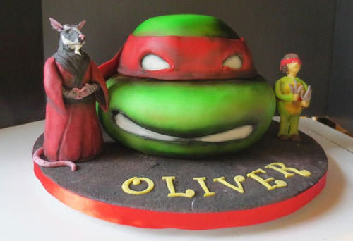 Foto della torta delle Tartarughe Ninja in PDZ n.37