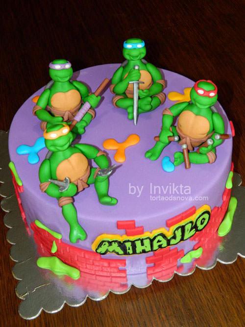 Foto della torta delle Tartarughe Ninja in PDZ n.38