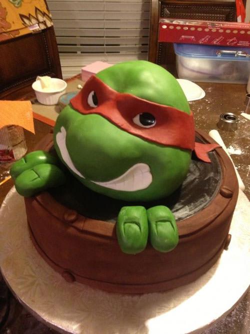 Foto della torta delle Tartarughe Ninja in PDZ n.39