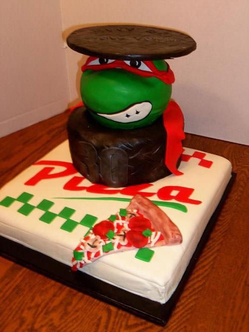 Foto della torta delle Tartarughe Ninja in PDZ n.41