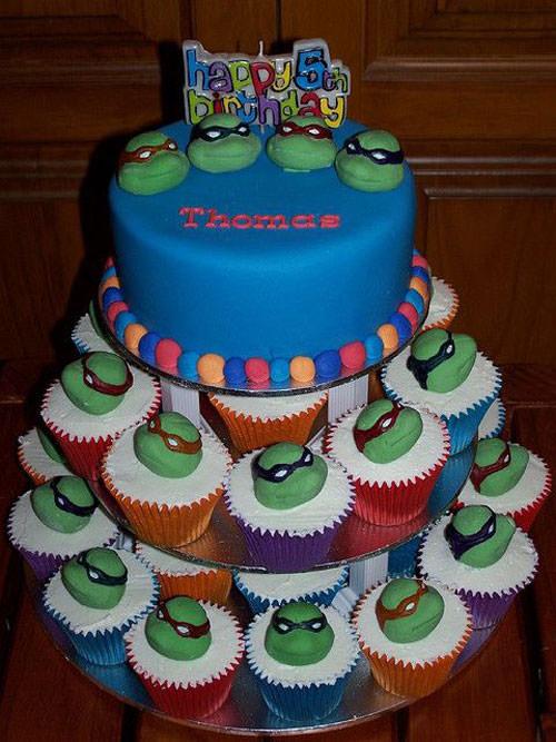 Foto della torta delle Tartarughe Ninja in PDZ n.43