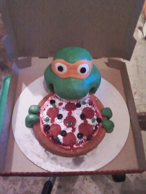 Foto della torta delle Tartarughe Ninja in PDZ n.45