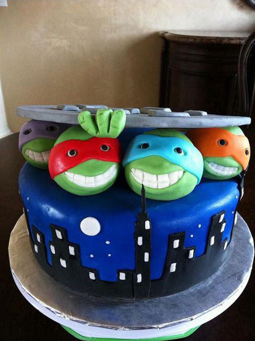 Foto della torta delle Tartarughe Ninja in PDZ n.46