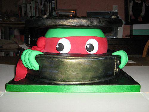 Foto della torta delle Tartarughe Ninja in PDZ n.47
