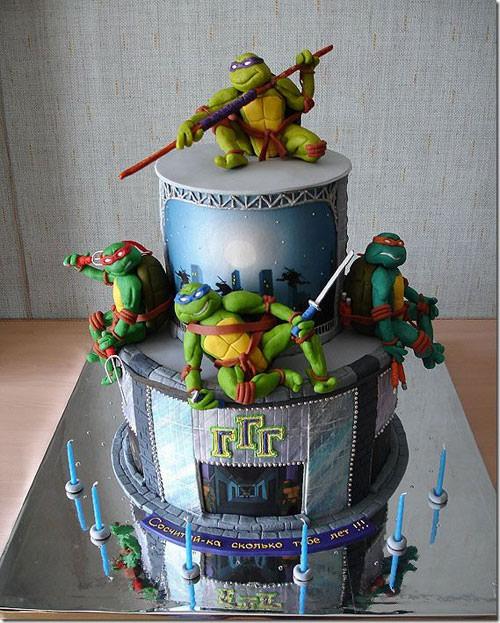 Foto della torta delle Tartarughe Ninja in PDZ n.48