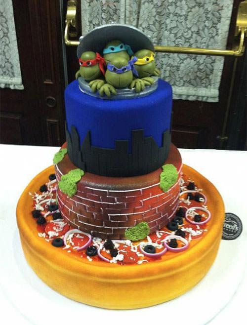 Foto della torta delle Tartarughe Ninja in PDZ n.49