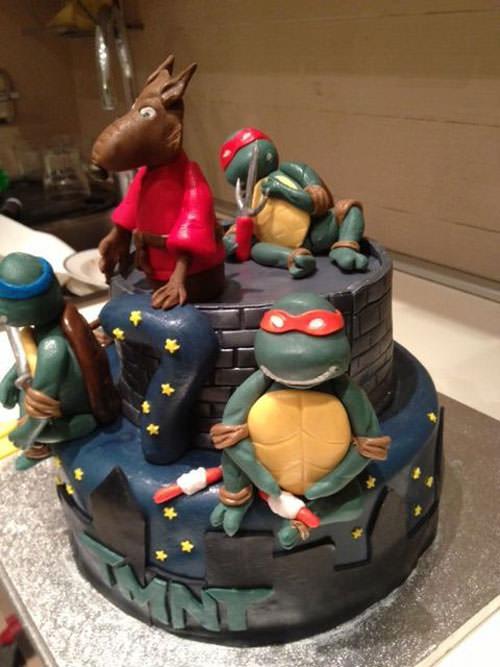 Foto della torta delle Tartarughe Ninja in PDZ n.50