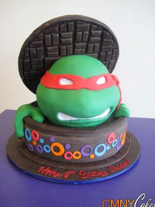 Foto della torta delle Tartarughe Ninja in PDZ n.51