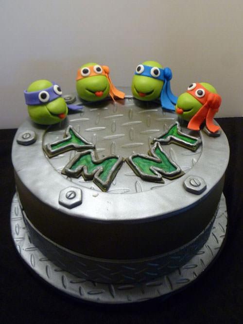 Foto della torta delle Tartarughe Ninja in PDZ n.52