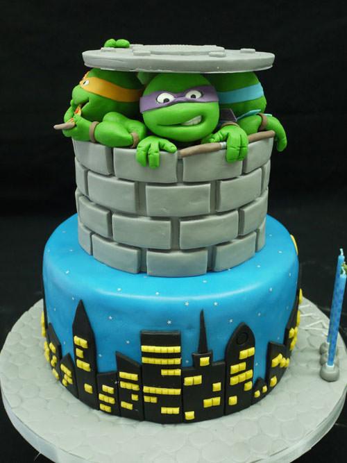Foto della torta delle Tartarughe Ninja in PDZ n.54