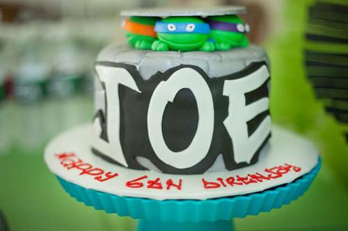 Foto della torta delle Tartarughe Ninja in PDZ n.55