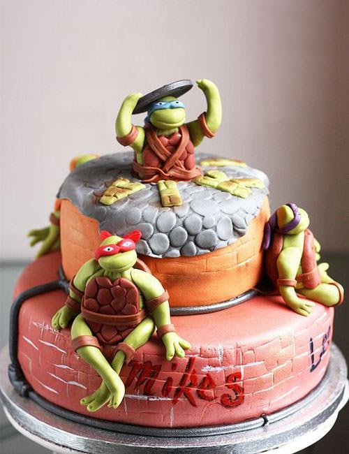 Foto della torta delle Tartarughe Ninja in PDZ n.56