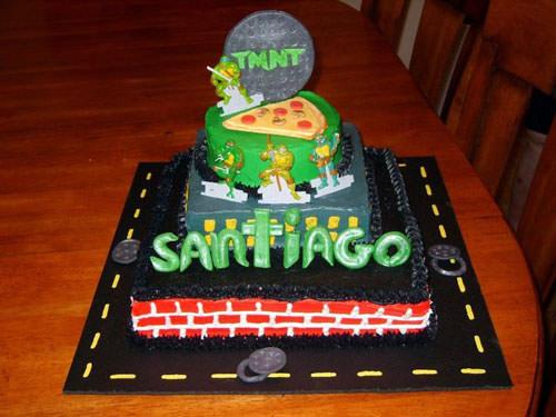 Foto della torta delle Tartarughe Ninja in PDZ n.57