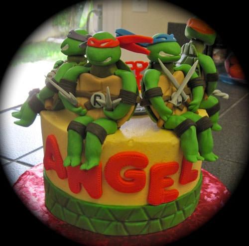 Foto della torta delle Tartarughe Ninja in PDZ n.58