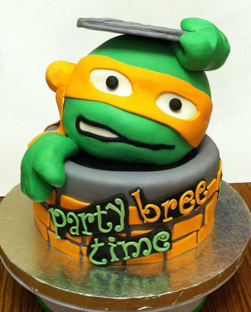 Foto della torta delle Tartarughe Ninja in PDZ n.59