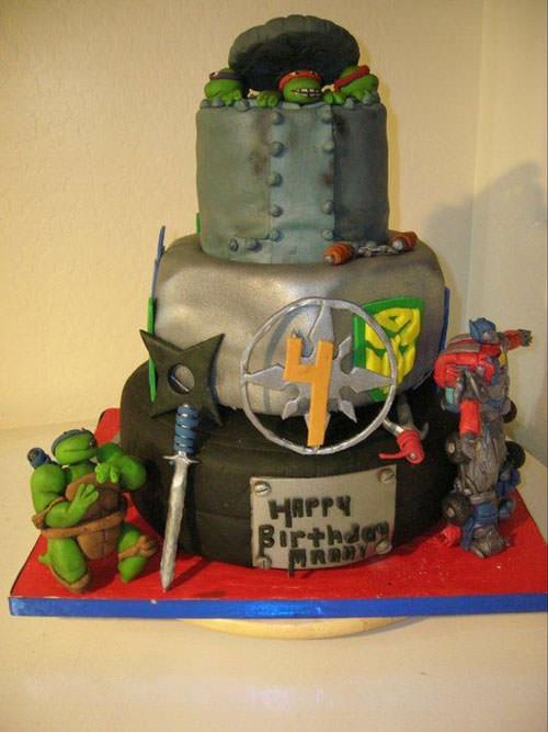Foto della torta delle Tartarughe Ninja in PDZ n.60