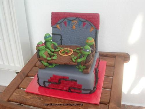 Foto della torta delle Tartarughe Ninja in PDZ n.62