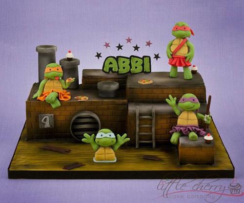 Foto della torta delle Tartarughe Ninja in PDZ n.64