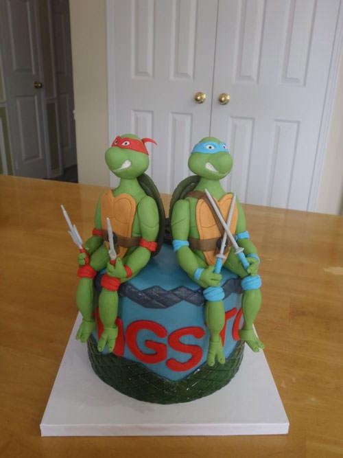 Foto della torta delle Tartarughe Ninja in PDZ n.66