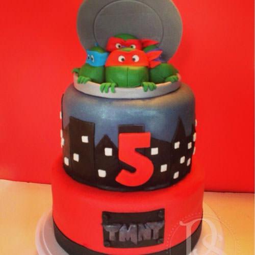 Foto della torta delle Tartarughe Ninja in PDZ n.67