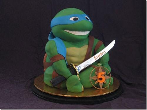 Foto della torta delle Tartarughe Ninja in PDZ n.68