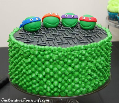 Foto della torta delle Tartarughe Ninja in PDZ n.69