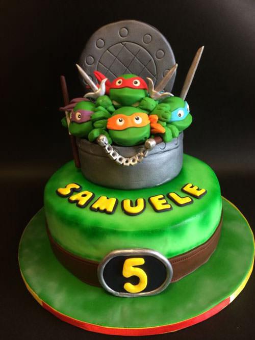 Foto della torta delle Tartarughe Ninja in PDZ n.72