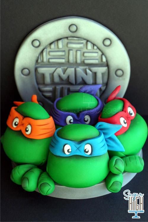 Foto della torta delle Tartarughe Ninja in PDZ n.73