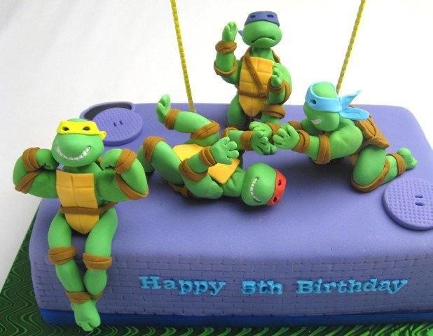 Foto della torta delle Tartarughe Ninja in PDZ n.74