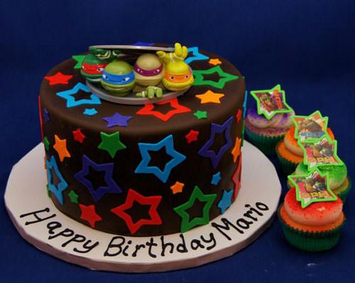 Foto della torta delle Tartarughe Ninja in PDZ n.75