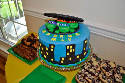 Foto della torta delle Tartarughe Ninja in PDZ n.77