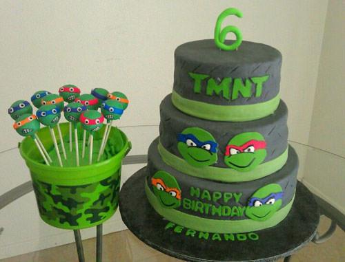 Foto della torta delle Tartarughe Ninja in PDZ n.78