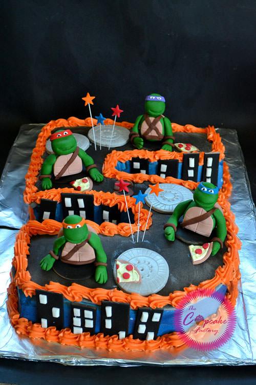 Foto della torta delle Tartarughe Ninja in PDZ n.80