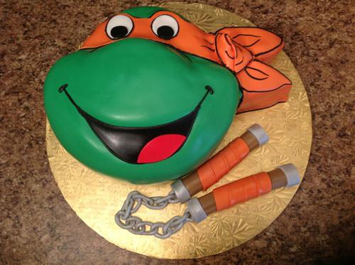 Foto della torta delle Tartarughe Ninja in PDZ n.81