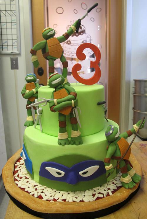 Foto della torta delle Tartarughe Ninja in PDZ n.82