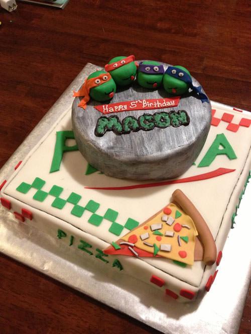 Foto della torta delle Tartarughe Ninja in PDZ n.83