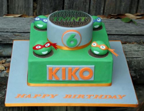 Foto della torta delle Tartarughe Ninja in PDZ n.84