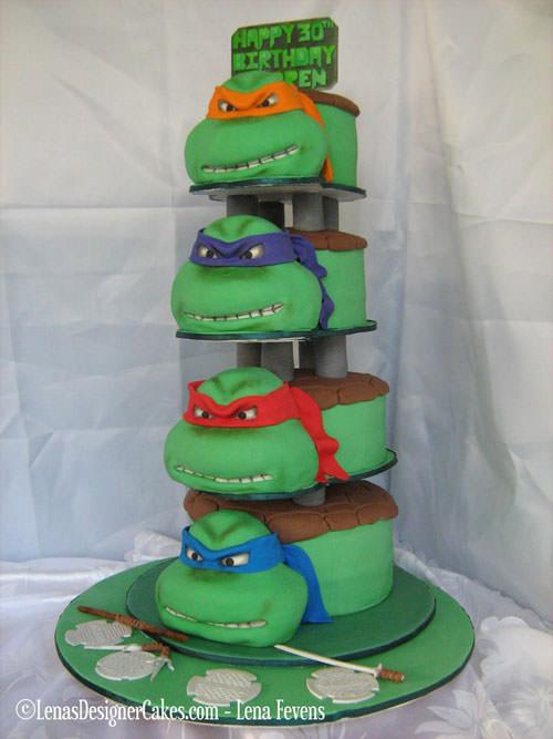 Foto della torta delle Tartarughe Ninja in PDZ n.85