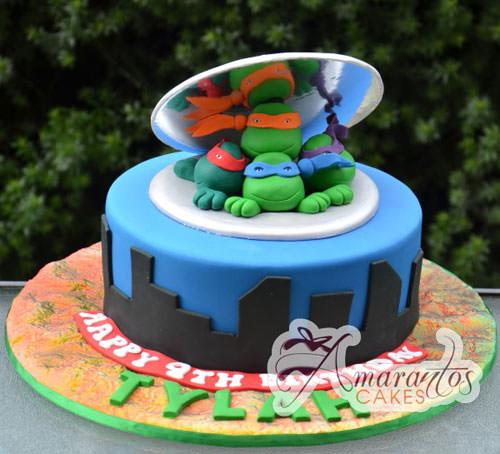 Foto della torta delle Tartarughe Ninja in PDZ n.86
