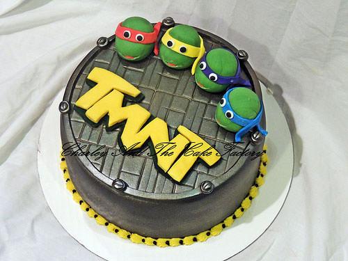 Foto della torta delle Tartarughe Ninja in PDZ n.88