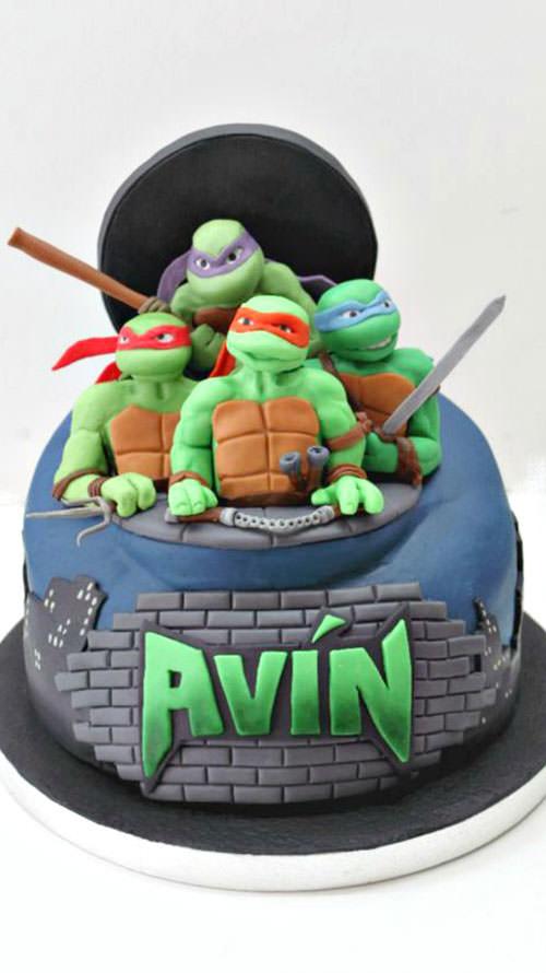Foto della torta delle Tartarughe Ninja in PDZ n.90